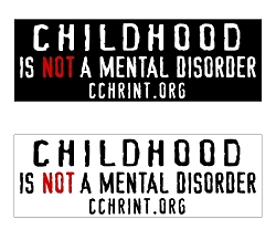 Childhood Is Not A Mental Disorder Bumper Stickers